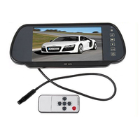 Car DVD player 7 Color TFT LCD mirror monitor auto Camera DVD VCR Car camera car reversing video
