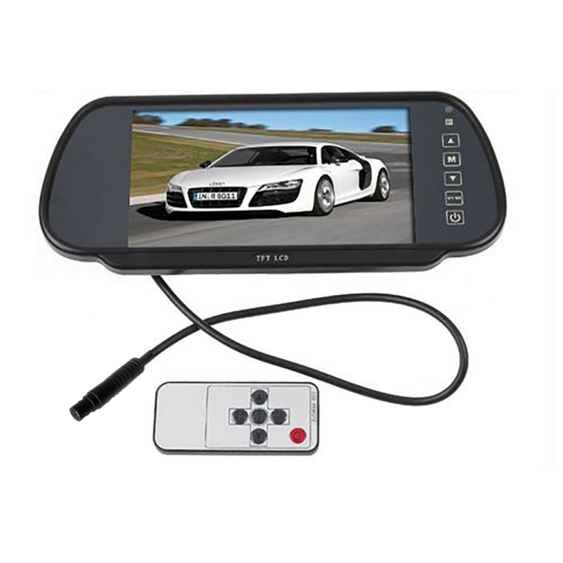 Car DVD player 7 Color TFT LCD mirror monitor auto Camera DVD VCR Car camera car reversing video 4 3 tft lcd car rear view reverse color camera monitor reversing dvd vcr cctv