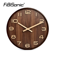 2018 Hot Sale Large Wall Clock Modern Design Imitation Wooden Hanging Vintage Silent Wall Clock Decor