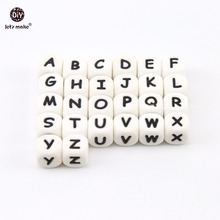 Silicone Alphabet 10pcs 12mm BPA Free Beads Food Grade Teethers DIY Personalized Name Lets Make Baby