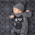 2017 Brand Baby Rompers Cartoon Little Monster Baby Boy Romper Cotton Spring Long Sleeve Jumpsuit Clothing Roupa De Bebe