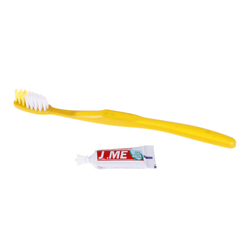10pcs Disposable Toothbrush With Toothpaste Kit Hotel Handy Plastic Travel Teeth Clean Tool Protable image