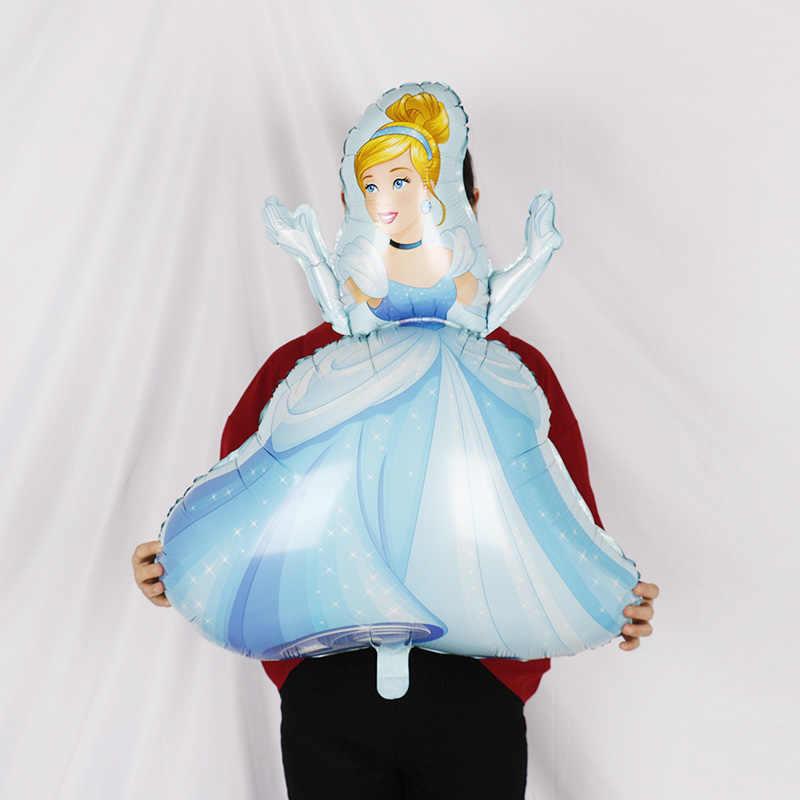 Большие фольгированные шары Золушки, Белоснежки, русалки, принцессы, 18 дюймов, для маленьких девочек, для дня рождения, украшения, Детские гелиевые шары, игрушки