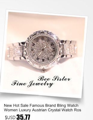 charme relógio strass bling cristal bangle