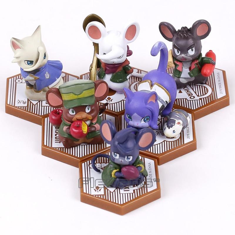Mobile Suit Gundam: Iron-Blooded Orphans Cat & Mouse PVC Figures Collectible Model Toys 6pcs/set 5cm