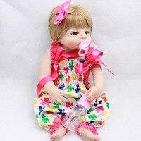 23 pulgadas Blanco Baby Dolls Realista Lleno de Silicona de Vinilo de la piel Viva Girl Doll Renacer Baby Doll Para Los Regalos de Los Niños
