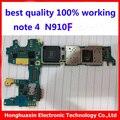 100% de trabajo placa madre original para samsung galaxy note 4 n910f desbloqueado placa base placa base la versión de la ue