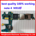 100% working original motherboard for Samsung Galaxy NOTE 4 N910F unlocked mainboard EU version system board