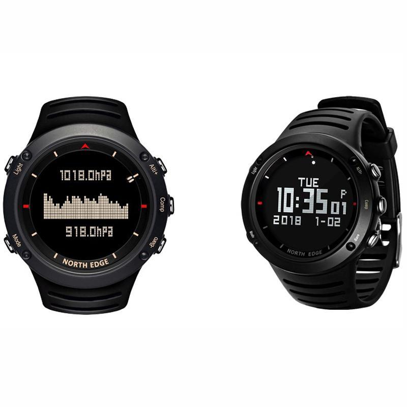 Спортивные часы водонепроницаемый светодиодный цифровые «Умные» часы компасный альтиметр барометр термометр светящиеся наручные часы му...