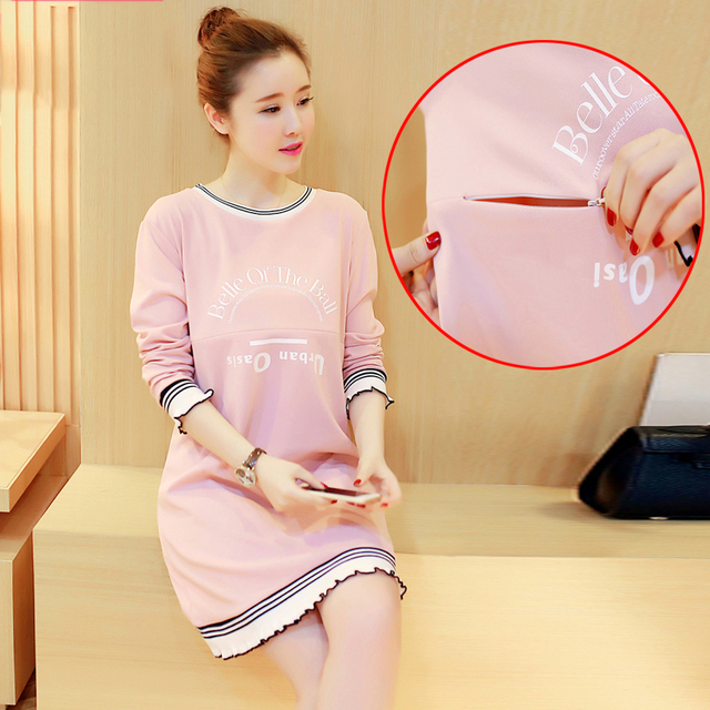 Maternity Clothes Breastfeeding Pregnant Women Clothing Premama Maternity Wear Gown Lactation Pregnancy Clothing 502117