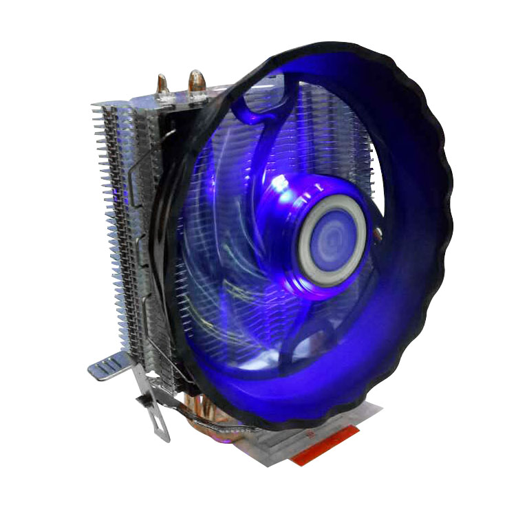 Silent 2 Heatpipes Radiator 90mm CPU Cooler Fan TDP 95W Aluminum Heatsink LED Fan for i3/i5/i7 LGA 775/115x/1366 / AM2+/ AM3+ 2 heatpipes blue led cpu cooling fan 4pin 120mm cpu cooler fan radiator aluminum heatsink for lga 1155 1156 1150 775 amd