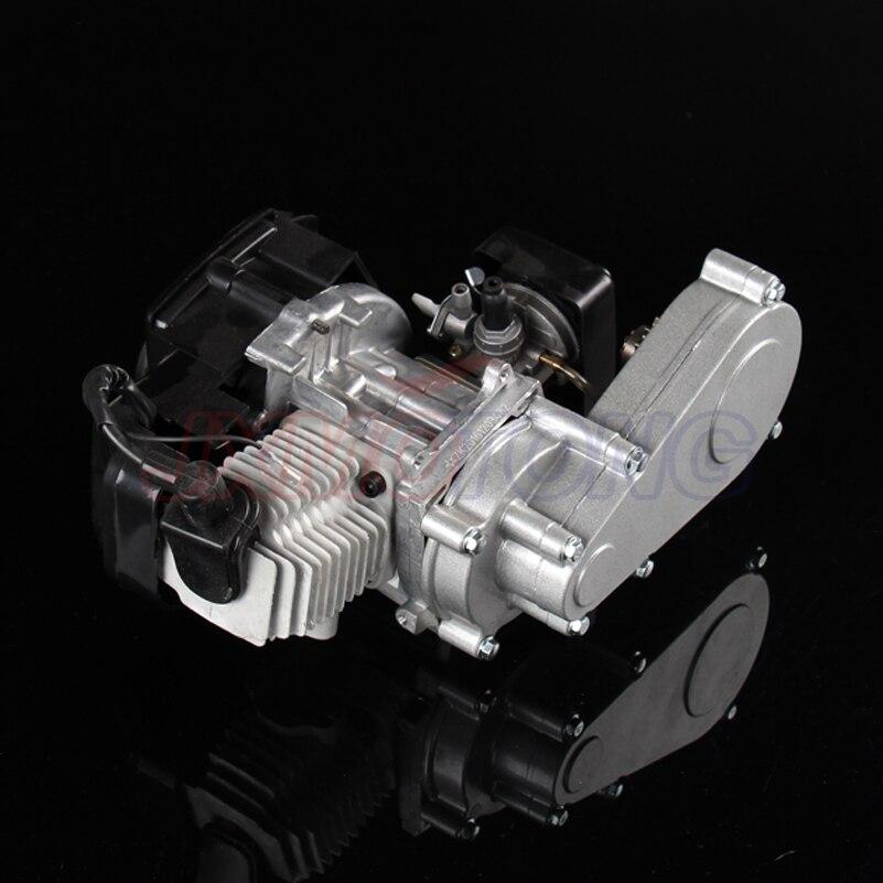Moteur 2 temps 43cc 47cc 49cc avec boîte de vitesses, démarreur à traction en aluminium pour moteur MINI QUAD ROCKET POCKET BIKE plage à quatre roues