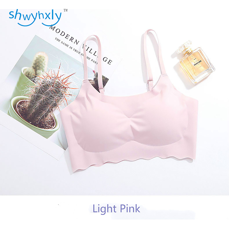 shwyhxly New Woman Modal Wireless Seamless and Removable 3D Foam Cup Push Up and Shape Your Body With Laciness Bra 2 Pcs Pack in Camisoles Tanks from Underwear Sleepwears