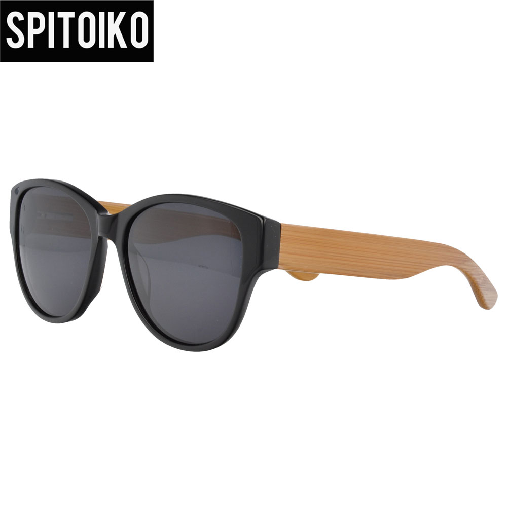 Мой DOLI 209 Новое поступление высокое качество ацетат оптически рамка бамбук храма солнцезащитные очки поляризованные линзы зонтики солнцез...