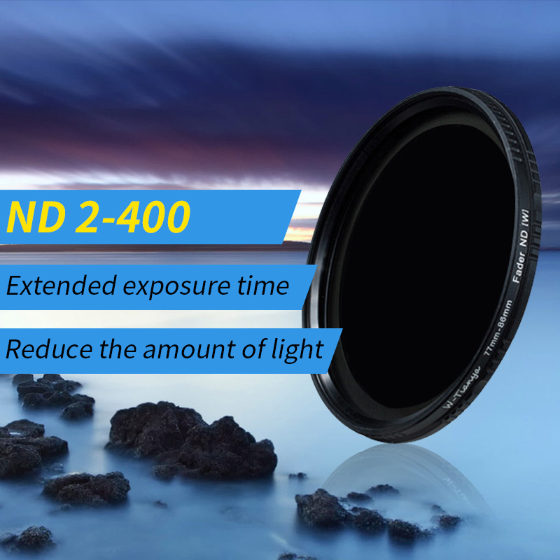 Wtianya Neutral Density filter ND2 to ND400 77 40.5 43 46 49 52 58 62 67 72 82mm Variabl ...