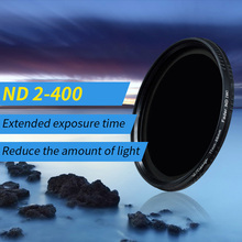 Wtianya Neutral Density filter ND2 to ND400 77 40.5 43 46 49 52 58 62 67 72 82mm Variable range ND filter 2 to 9 Step Dimmer