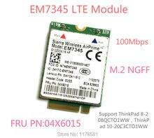 Thinkpad GOBI5000 EM7345 LTE FRU 04X6015 ThinkPad 10 ThinkPad 8 WWAN HSPA+ 42Mbps 4G Module NGFF