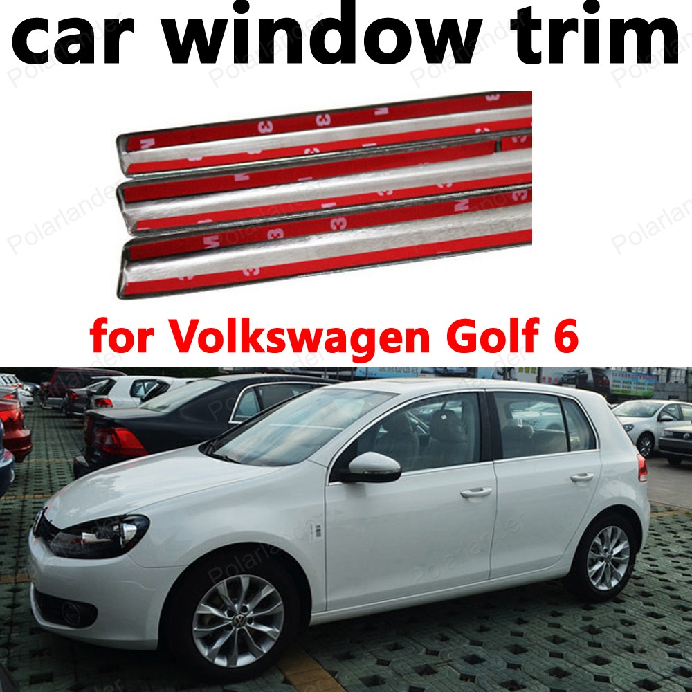 Car Exterior Accessories Styling Decoration Strips For Volkswagen Golf 6 Stainless Steel Window