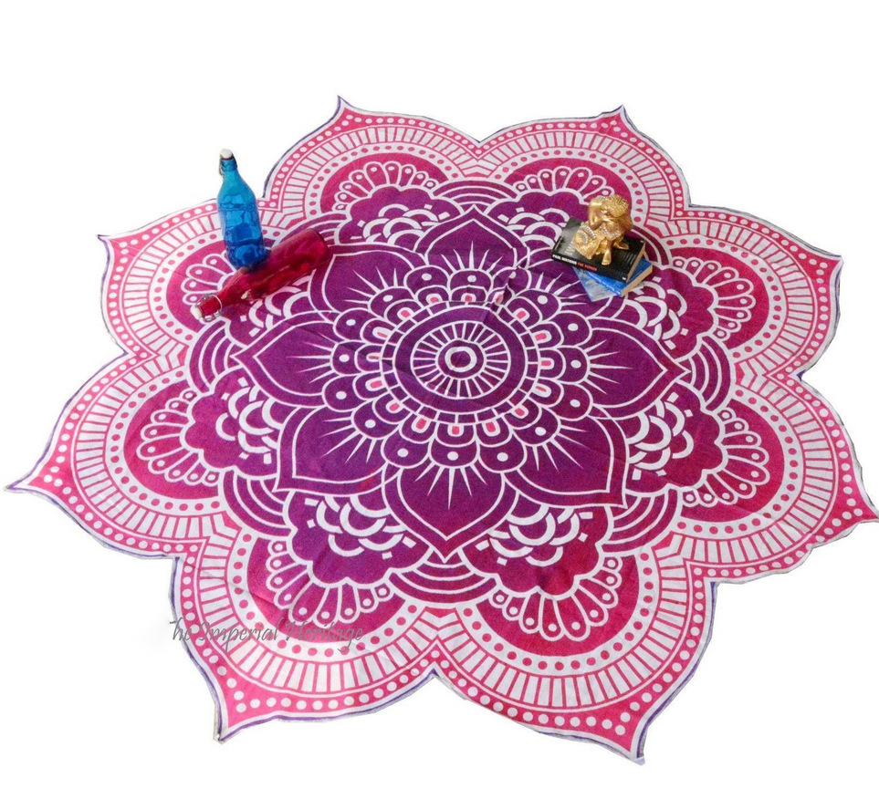 Lotus Flowers printed tapestry elephant mandala hanging wall for decoration hippie beach towels