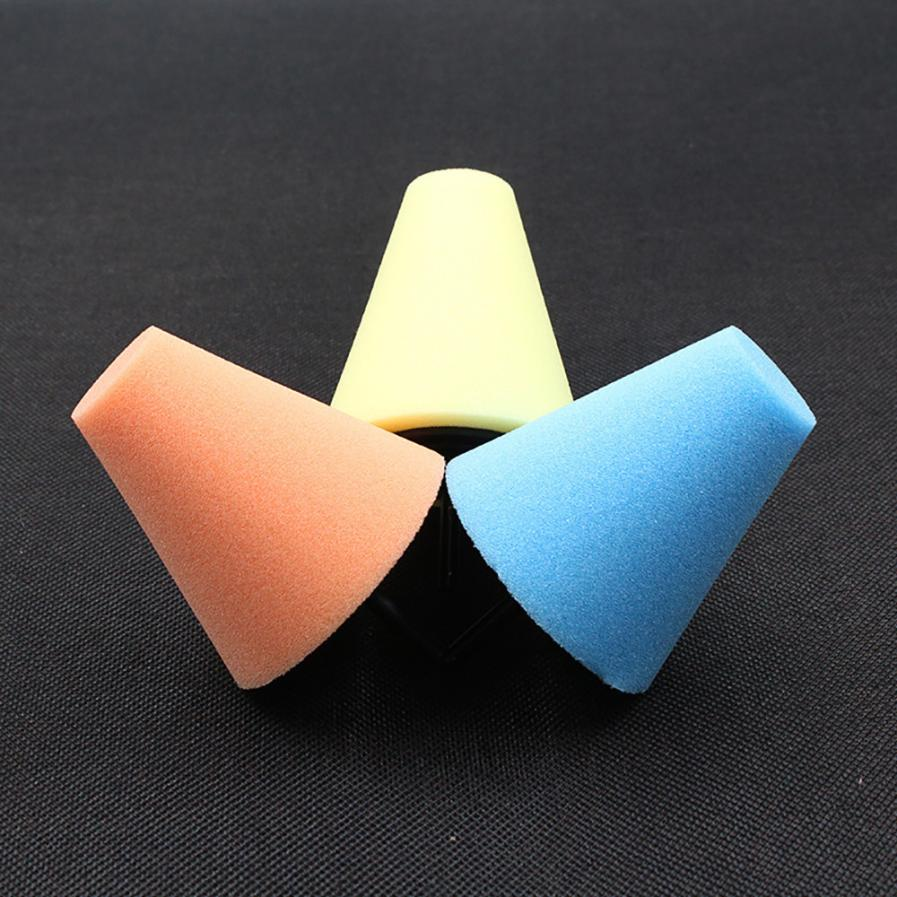 Car tools Wheel Hub Polish Buffing Shank Polishing Sponge Cone Metal Foam Pad Car 6MM                        feb11