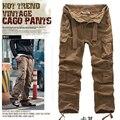 Бесплатная доставка 2015 осень и зима мода модели взрыва мужские брюки-карго тонкий мульти-карман брюки