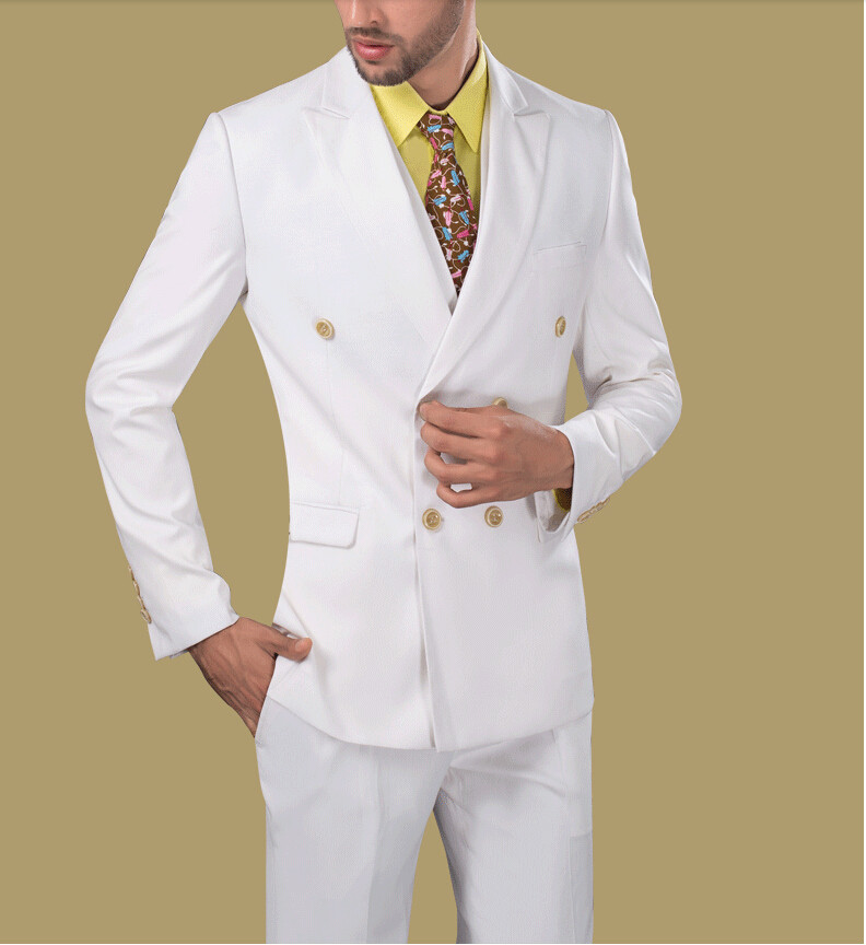 Popular White Double Breasted Suit-Buy Cheap White Double Breasted ...