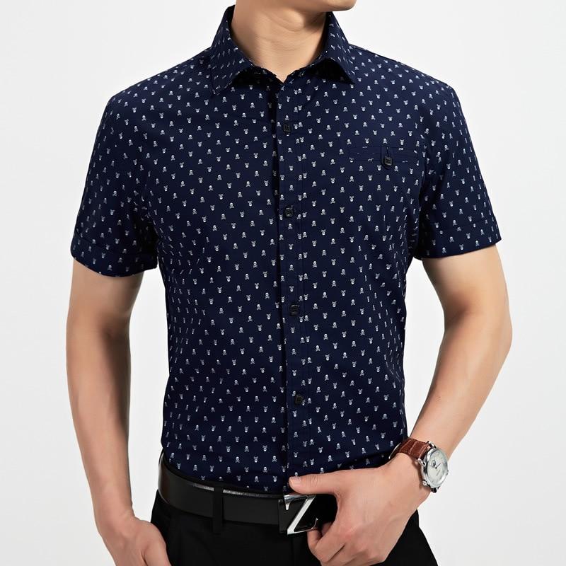 Marca para hombre camisas manga corta moda Casual camisas
