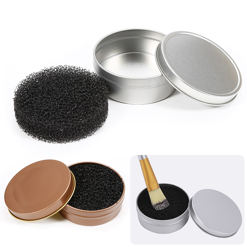 ELECOOL Durable Makeup Brush Cleaner Sponge Eyebrow Contour Powder Color Switch Remover Quick Wash Iron Clean Case Makeup Tool