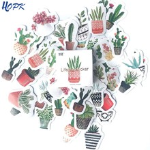 45 Pcs/Set Cute Green Plant Cactus Stickers Planner Scrapbooking Diy Decoration Diary Album Stick Label Bullet Journal Sticker(China)