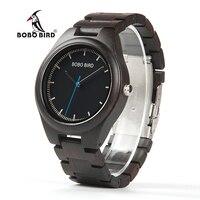 BOBO BIRD New Designer Luxury Wood Wrist Watch Men Japan Move' Quartz Watches with Wooden Watch Box relogio masculino C O03