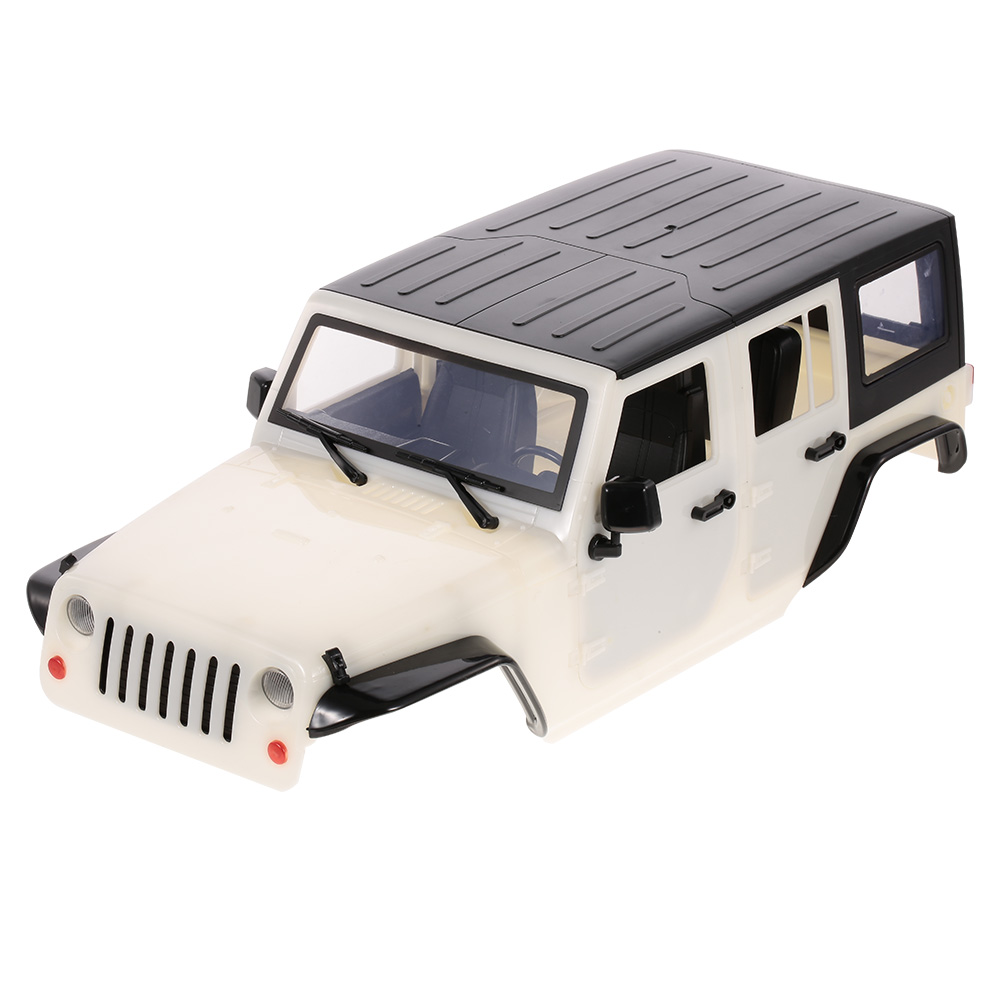 RC Car 313mm Crawler Body Shell Frame for Traxxas 1:10 HSP Redcat RC4WD Tamiya Axial SCX10 D90 HPI Jeep Wrangler DIY Parts 4 leds lamp rc car white light for traxxas hsp hpi redcat vehicle part