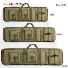 Двойной винтовка Чехол для переноски пистолет сумка рюкзак портативный Открытый тактический длинные пистолеты сумка 33 ''/39''/47''