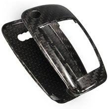 1 Компл. Чистого Углеродного Волокна Дистанционного Ключа Обложка Держатель Оболочки кожи 3 BTN Для Audi A1 A3 A4 Высокого качество