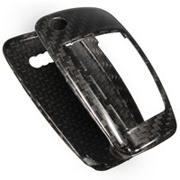 1 Set Pure Carbon Fiber Remote Key Cover Holder Case Skin Shell 3 BTN For Audi A1 A3 A4 High Quality