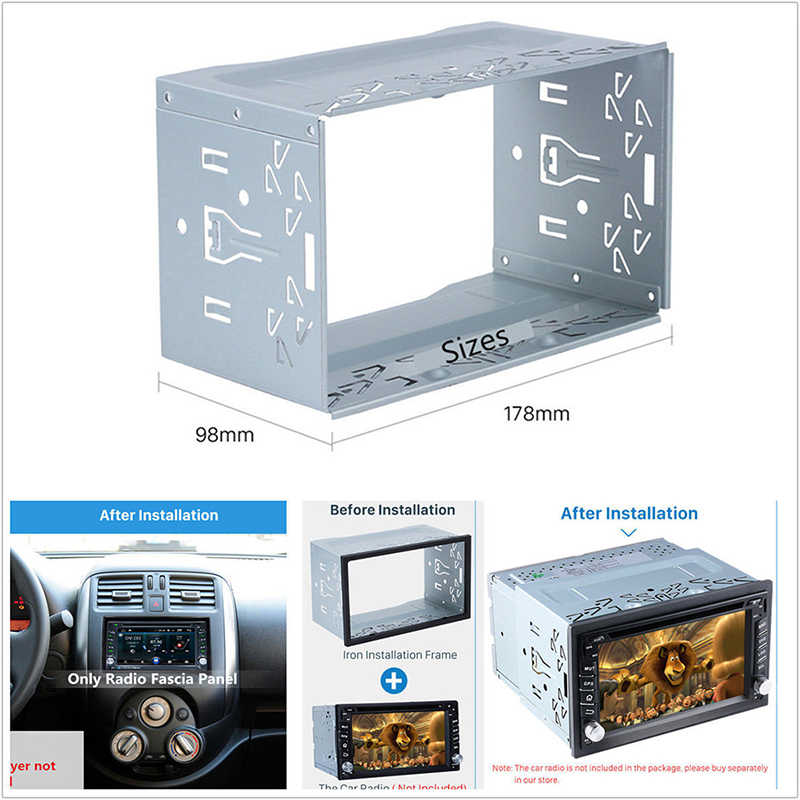 ホット販売 2Din フィッティングキットラジオヘッドユニットインストールフレームユニバーサル 2Din フィッティングキット車ラジオプレーヤーケース