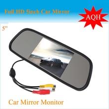 """Promoción De la Alta resolución de 5 """"Color de ALTA DEFINICIÓN de pantalla TFT LCD de Coches Retrovisor Monitor del Espejo de 5 pulgadas del coche Monitor de la Cámara DVD VCR"""