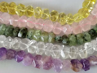 loose beads baroque faceted amethyst/ prehnite/ Rose Quartz/lemon 15*20mm for making jewelry necklace 15inch FPPJ wholesale
