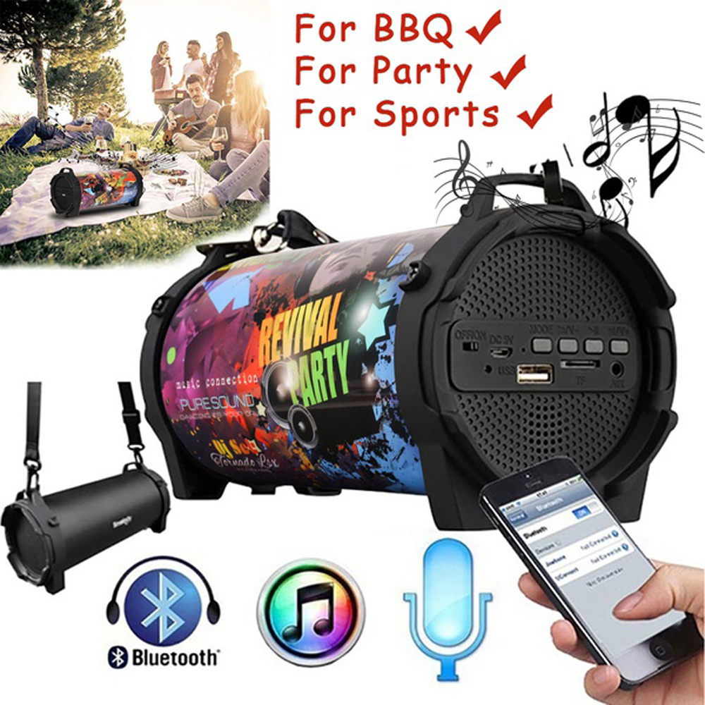 New Outdoor Portable Subwoofer Column Bluetooth Speaker Wireless Powerful Sports Speakers Radio FM Mp3 player Scalable