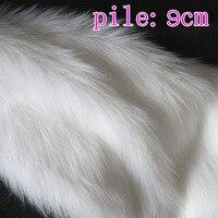 Sólido branco Shaggy da Pele Do Falso Tecido (longo Pilha de peles) trajes Cabelo 36