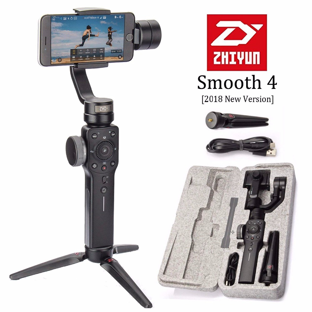 Zhiyun Liscia 4 3-Axis Handheld Gimbal Stabilizzatore Portatile per Smart phone iPhone Samsung