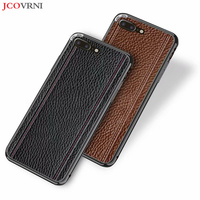 JCOVRNI 100% leather pebbled pattern metal frame 2 in 1 back cover for iphone XR XS XSMAX 7plus 8 8plus slim mobile phone case