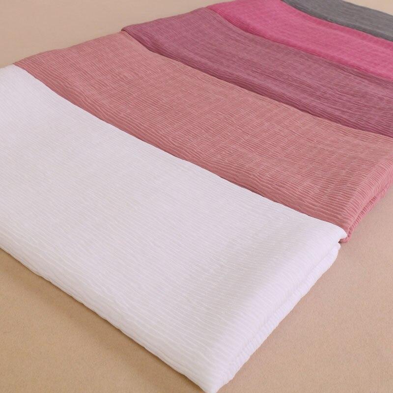 Laven womens Big size bubble chiffon scarf plain wrinkle soft crumple shawls hijab spring muslim 21