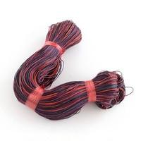 Ювелирных изделий нанизывая материалов из вощеного хлопка шнур, седло коричневый, серый, красочные, 1 мм; около 80 м/roll, 5 рулонов/связки (bundle), ...