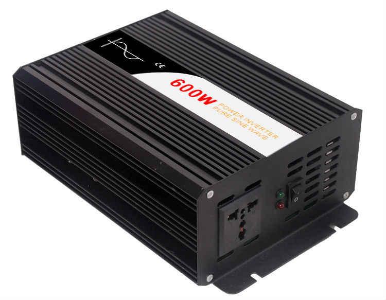 600 Вт Чистая Синусоидальная волна солнечной энергии инвертор DC 12 V 24 V 48 V к AC 110 V 220 V