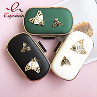 Fashion insect butterfly decoration pu leather retro party purse women's evening bag clutch bag female chain purs shoulder bag