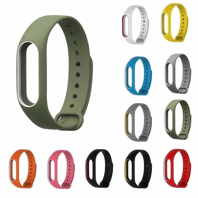 My Band 2 Strap Bracelet Wrist Strap for Xiao Mi Band 2 Watch XIO MI Band2 Accessories Smart Bracelet Silicone Sport Strap