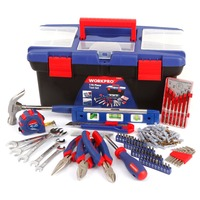 WORKPRO 170PC Home Tool Set car repair Tool Kits hand tools set wrench plier screwdriver set plastic tool box set
