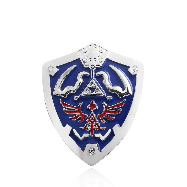 Classic Game The Legend of Zelda Brooches Vintage Antique Silver Plated Blue Ena