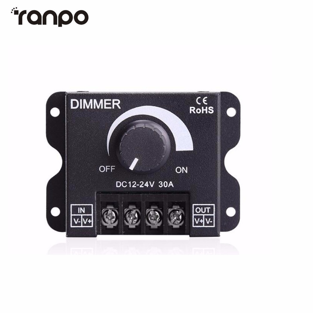 Led Switch Dimmer Dc 12v 24v 30a 360w Adjustable Bright Lamp Strip Driver Dimming Power Supply For Controller 5050 3528 In Dimmers From Lights Lighting