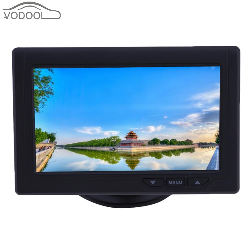 4.3 TFT LCD Car-styling Monitor Automobiles 2-Way Video Input Rear View Backup Reverse Parking Display Monitor for Auto